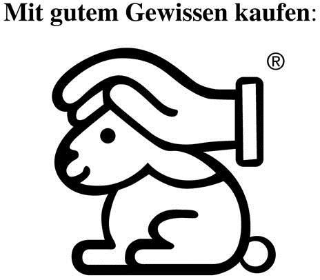 Logo hoppelnder Hase mit schützender Hand